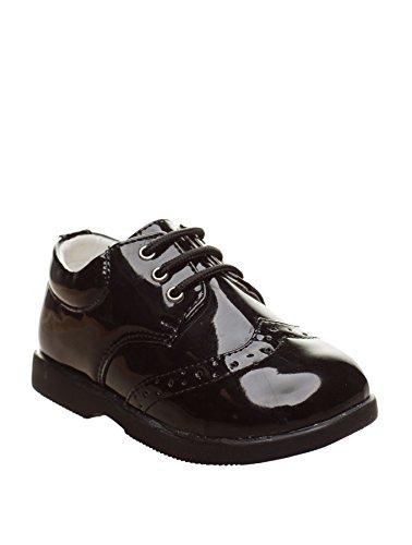 Paisley of London - Zapatos de Vestir Negros para niños - Negro, Infant 6