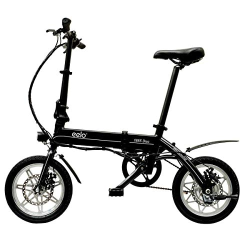 eelo 1885 PRO Folding Electric Bike - Portable Easy to Store in Caravan, Motor Home, Boat. Short Charge Lithium-Ion Battery and Silent Motor eBike