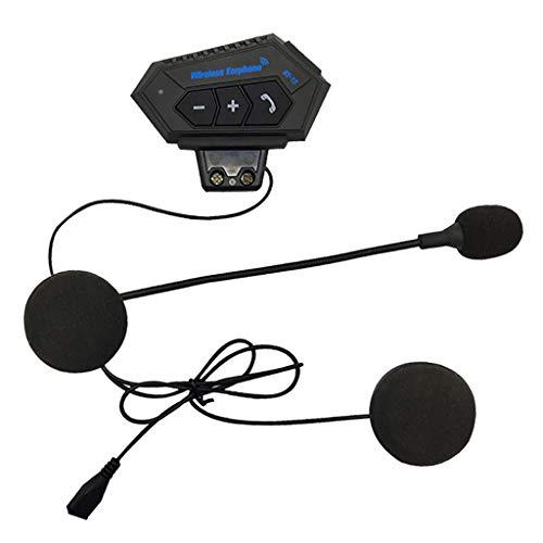 MERIGLARE Intercomunicador de Bluetooth de La Motocicleta, Auriculares Del Sistema de Comunicación Del Casco de La Motocicleta