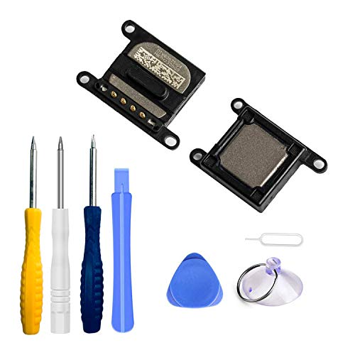Xlhama 2-Pack Ensamblaje Auricular Altavoz Interno Compatible con iPhone 7 Plus o iPhone 8 Plus Ear Speaker de Repuesto con Kit Desmontaje de reemplazo con Completa Herramientas Incluidas