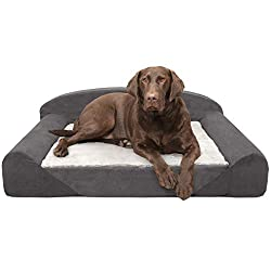 Furhaven Pet Dog Bed Therapeutic Traditional Sofa-Style