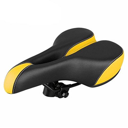 Randeny Confort Vélo Siège Vélo Selle Vélo de Montagne Vélo de Montagne Vélo Coussin de Siège Souple Yellow
