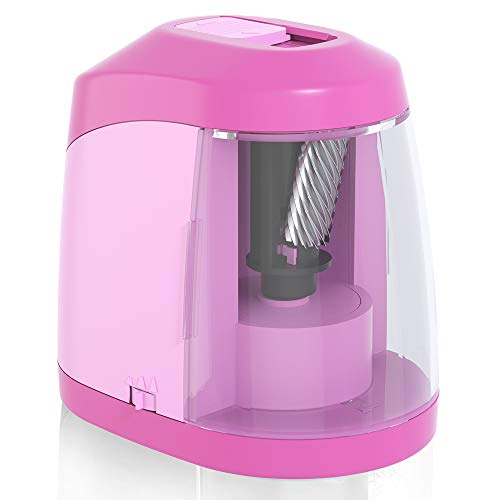 Electric Pencil Sharpener, Battery Operated Pencil Sharpener for School Classroom Office, Auto Stop for No.2/Colored Pencils(6-8mm),USB Cable and Ac Adapter Included