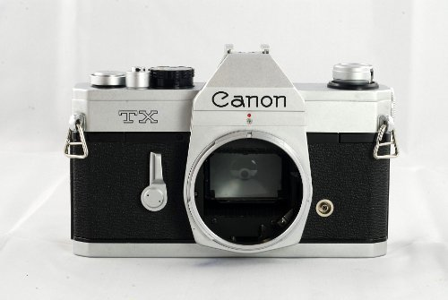 Canon TX SLR manual focus film camera body; no lens
