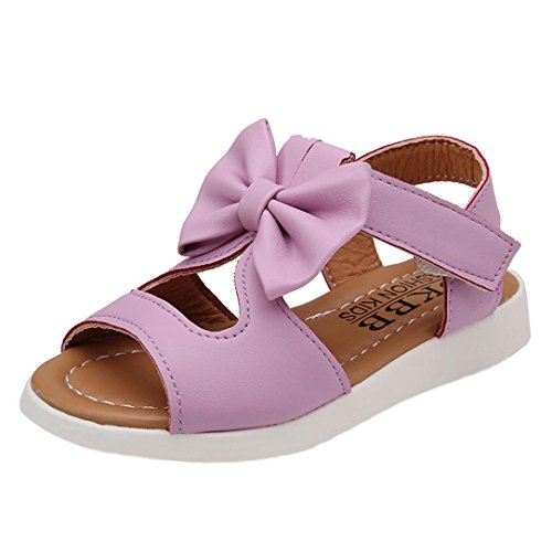 Hot Sale!Summer Sandals,Todaies Kids Children Sandals Fashion Big Bowknot Girls Flat Pricness Shoes 2018