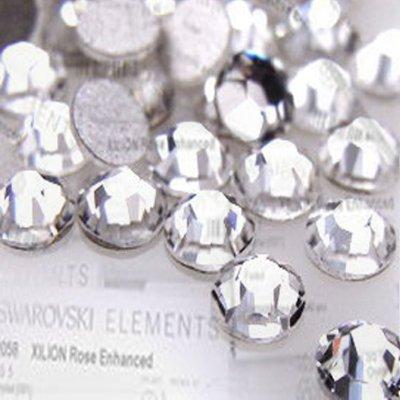 100 Clear SS6 SWAROVSKI 2028 Crystals - 2mm Glue Fix