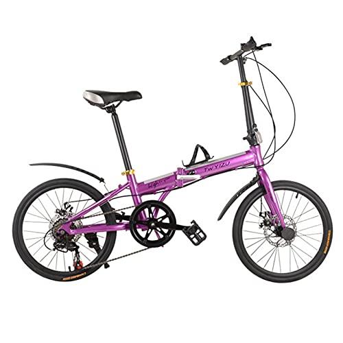 JXINGY Bicicleta para niños Bicicleta Plegable, Bicicleta Plegable de 20, Mini Bicicleta compacta para Ciudad