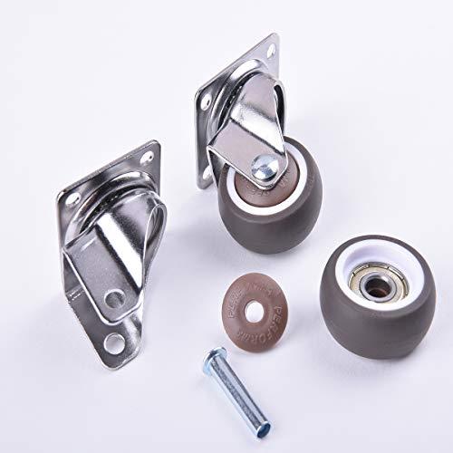41SFTbBiOeL. SL500  - 4 ruedas para muebles de 25 mm con tornillos, frenos de goma, pequeñas ruedas giratorias para muebles, ruedas de carga pesada para muebles de palés (25 mm)