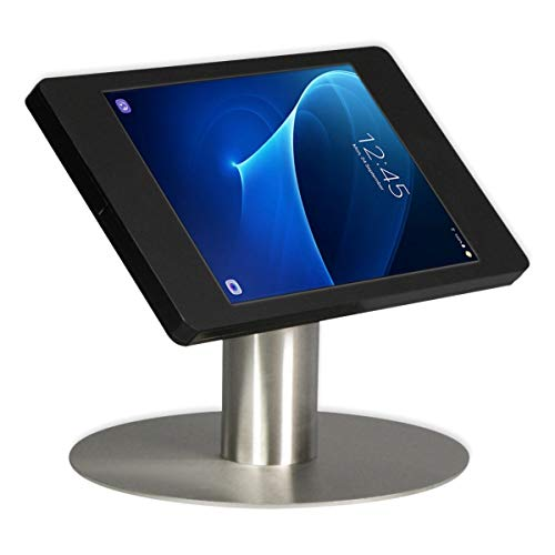 Tablet desk stand Fino for Samsung Galaxy Tab S 10.5 - black/stainless steel- camera visible