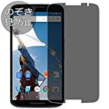 Synvy Privacy Screen Protector Film Compatible with Google Nexus 6 Google Nexus6 0.14mm Anti Spy Protective Protectors [Not Tempered Glass] Updated Version