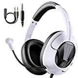 Gaming Headphones Headset with Microphone, EKSA Air Joy Ultralight Stereo Surround Sound PC Computer...