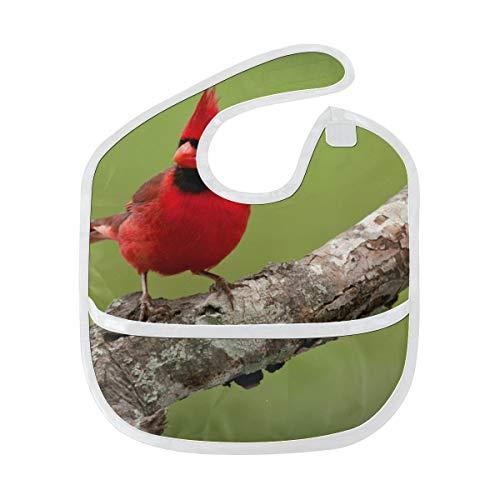 Bavaglini per bambini Ragazza rossa Animale Uccello Albero di neve Capelli neri Bavaglini per bambini per alimentazione Macchie morbide Nutrizione per bambini Dribble Bavaglini sbavati Burp