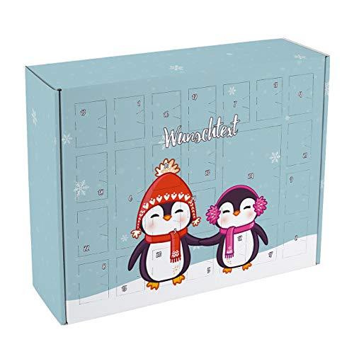Herz & Heim® Adventskalender für die Beste Freundin zum Befüllen mit Pinguin BFFs - eine toller DIY Kalender für die Adventszeit