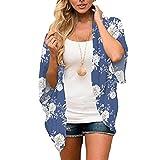 Cardigan en mousseline imprimé pour femme - Vêtement de plage - Protection solaire - Kimono lâche