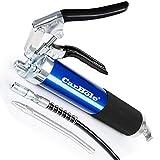 CarBole Pistola de engrase de 6000 psi, manejo con una sola mano, compatible con cartucho de 400 g o grasa suelta.