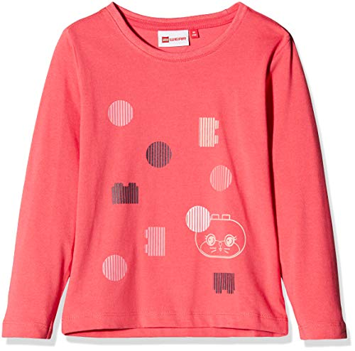Lego Wear Duplo Girl Thea 702 T-Shirt Manches Longues, Rose (Coral Red 333), 4 Ans Bébé Fille
