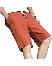 2021 Summer Mens Casual Shorts Cotton Male Kort Homme Brand Kleding Solid Shorts