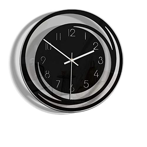 hufeng Wall Clock Creative Home Living Room Decoration Acrylic Wall Clock Explosion Models Minimalist Nordic Style Transparent Clock