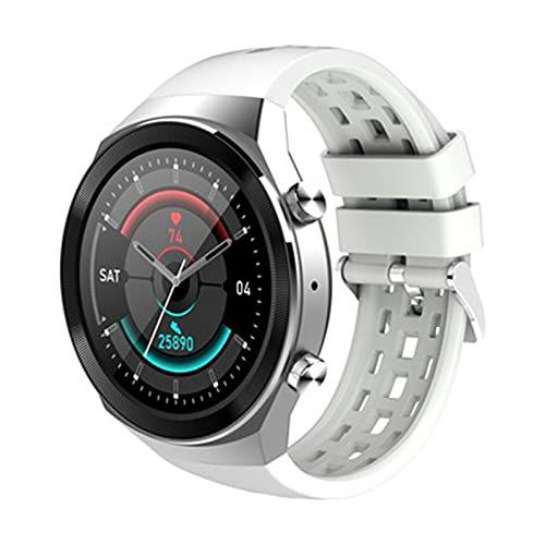 Smart Watch Uomo Donna,Smartwatch Bluetooth multifunzione con chiamata meteo,Monitoraggio della frequenza cardiaca ECG,orologio da polso per telefoni Android e iOS(Size:taglia unica,Color:bianco)