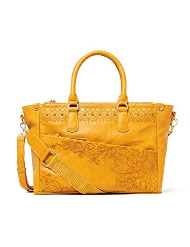 Desigual Accessories PU Hand Bag, Sac à main. Femme, Jaune, U