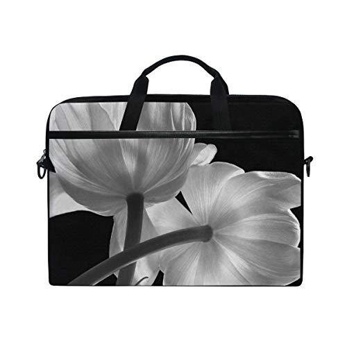 ADONINELP Laptop Bag for Men and Women,Flower Liner Modern Simple Unique Floral Art Print,Laptop Computer and Tablet Shoulder Bag Carrying Case 15 Inch Durable Office Bag Various Pattern -  ADONINELP20200102-5234