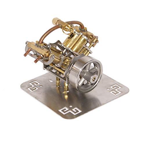 Teakpeak Dampfmaschine Motor, V4 Steam Engine Model Miniatur Dampfmaschinenmodell ohne Kessel -90 x 85 x 70mm