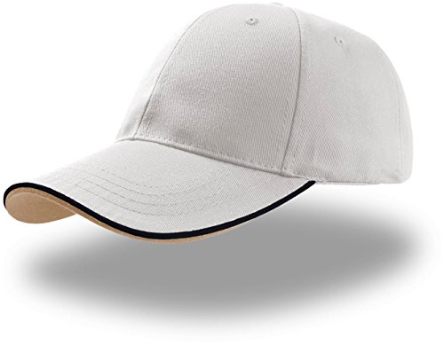 Atlantis Zoom Piping Sandwich Cap, One Size, White
