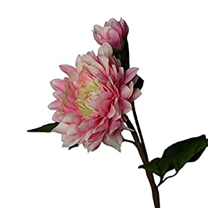 NUZYZ 1Pc Artificial Silk Cloth Flower Multipurpose Non-Fading Faux Household Fake Dahlia for Home Decoration