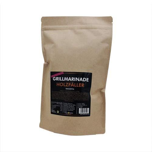 Royal Spice - Grillmarinade Holzfäller für saftiges, zartes & aromatisches Fleisch - 800g BBQ Gewürzmischung als Steak Marinade für Schwein & Rind - Marinade zum Anrühren mit Bier