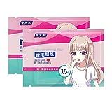 Minkissy 2 Paquetes de Papeles de Cera Depilatoria Facial Tiras de Cera Depilación Kit de Cera de Azúcar Depilación Tira de Papel de Afeitar para Hombres Y Mujeres