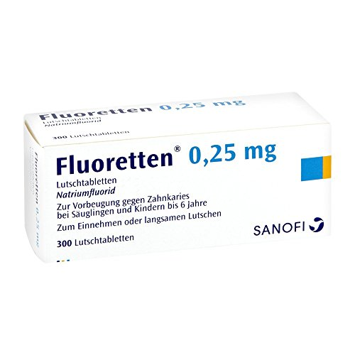 Fluoretten 0,25 mg, 300 St Lutschtabletten