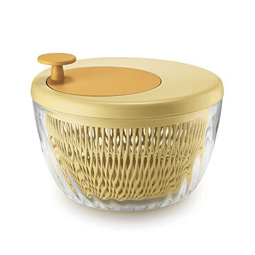 Guzzini Spin e Store Kitchen Active Design Salatschleuder, Yellow, 26 cm