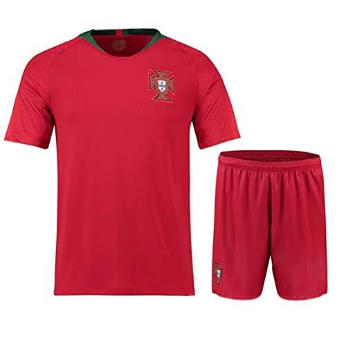 WK Portugal Nationaal Team nr. 7 Home Suit Voetbal Shirt Korte mouw Volwassene Kinderen Aangepaste Training Pak