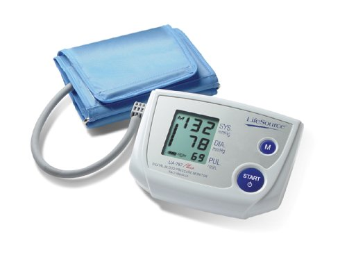 "LifeSource Small Cuff Upper Arm Blood Pressure Monitor, Fits 6.3"" - 9.4"" Arms (UA-767PVS)"