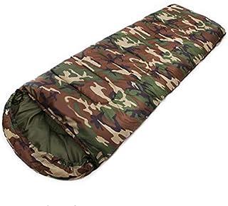 Cotton Camping Sleeping Bag 15~5degree Envelope Style Camouflage Multifuntional Outdoor SleepingBag Travel Keep Warm LazyBag