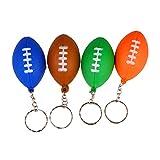 STOBOK 9Pcs Porte-Clés de Football Porte-Clés Balles de Sport Porte-Clés Rugby Pendentif Charmes Fête d'anniversaire Cadeau de Saint Valentin (Couleur Mélangée)