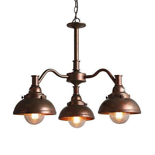 Industrielle Vintage Decken Pendelleuchten mit Samen Glas Lampenschirm, Retro 3-Licht Hängelampe, E27 Antik verstellbarer Metall Kronleuchter, for Kitchen Island Bar Esszimmer