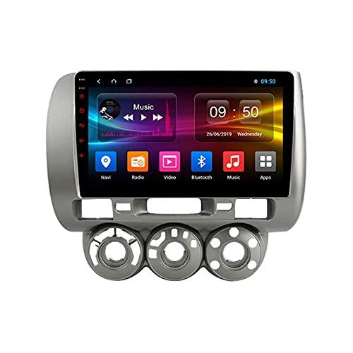 Navigatore satellitare per Auto Stereo per Fit Jazz 2004-2007 IPS Touch Screen GPS Supporto per Android 10.0 Controllo del Volante BT Mirror-Link 4G WiFi con Telecamera per retromarcia