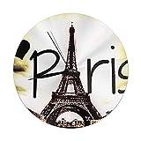 N / A Redondo Número Reloj De Pared Torre Eiffel Silencioso, Moderno, Redondo, Decorativo, para Salón, Dormitorio, Cocina.(Sin Tapa De Cristal)