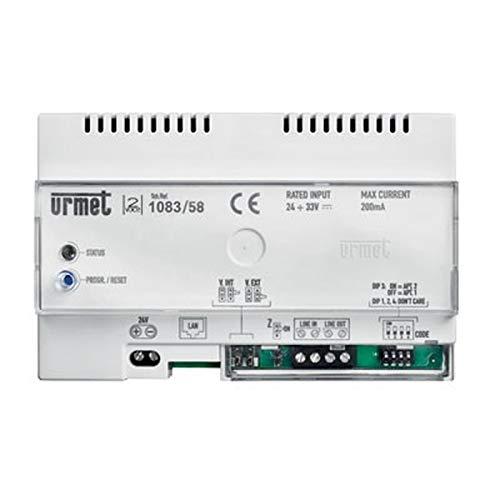 Urmet 1083/58 - Dispositivo de reenvío de llamadas, 2 canciones, 8 módulos, WiFi, Ethernet, interfono, videoportero