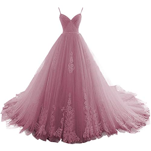 Prom Dress Long Quinceanera Dresses Tulle Formal Evening Gowns...
