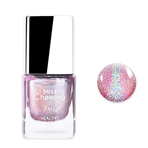 Ownest Holographic Nail Polish, Gorgeous Glossy Holographic Halo Glitter Polish Nail Art Nail Pigment Diamond Laser Nail Polish -LS06