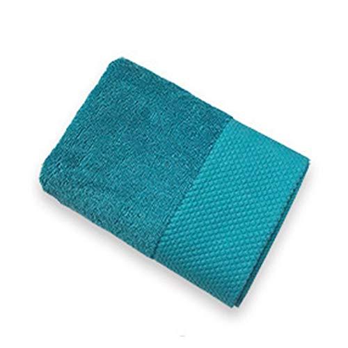 ZXF Toalla de baño de lujo, 3 colores, 100% algodón, suministros para el hogar de hotel, toalla de ducha, pañuelo, toalla de baño, toalla de spa (color: azul pavo real, tamaño: 160 x 80 cm, 800 g)