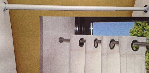Efitex® Klemmstange, Gardinenstange, Türvorhangstange ausziehbar (60-90 cm, Nickel matt)