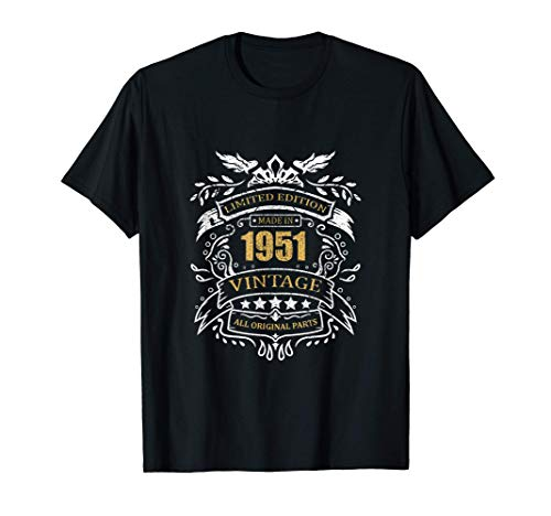 Limited Edition 70th Birthday Gift Idea Vintage 1951 T-Shirt