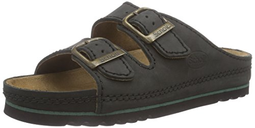 Scholl AIR Unisex vuxna sandaler, Svart Svart - 46 EU