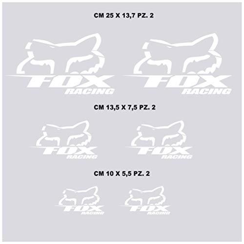 Aufkleber Stickers-kit kompatibel Fox Racing Moto Decal wählen Code. 1214 (010 Bianco)