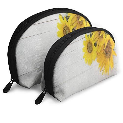 Schminktäschchen Gelb Suower Auf Holz Tragbare Shell Kosmetiktaschen Für Mädchen Ostern Geschenkpackung - 2