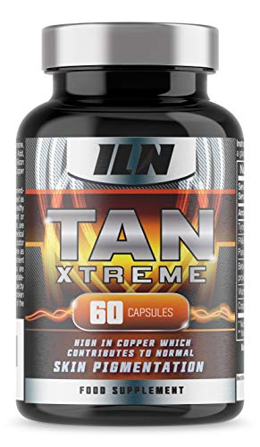 Tan Xtreme - with Copper, PABA and Beta-Carotene - for Skin Pigmentation - Tanning Supplement - 60 Capsules