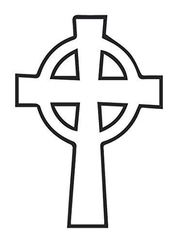 Celtic Eternity Cross Wall Decal (Black, 32' (H) X 22' (W))